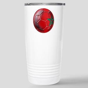 Moroccan Soccer Ball Stainless Steel Travel Mug