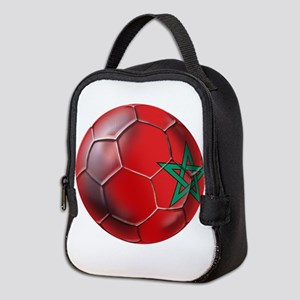 Moroccan Soccer Ball Neoprene Lunch Bag