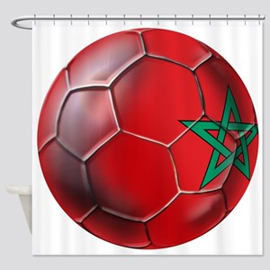 Moroccan Soccer Ball Shower Curtain