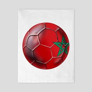 Moroccan Soccer Ball Twin Duvet