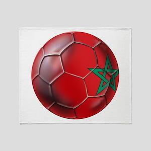 Moroccan Soccer Ball Throw Blanket
