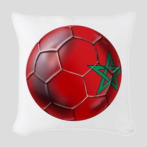 Moroccan Soccer Ball Woven Throw Pillow
