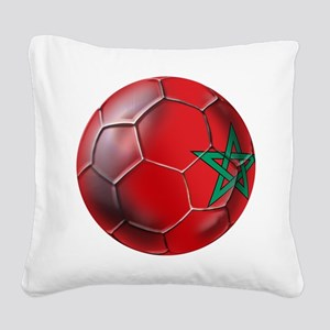 Moroccan Soccer Ball Square Canvas Pillow