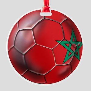 Moroccan Soccer Ball Round Ornament