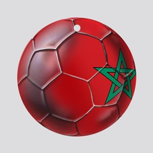 Moroccan Soccer Ball Ornament (Round)