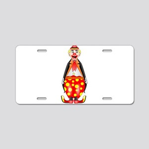 Circus Clown Aluminum License Plate