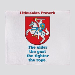 The Older The Goat - Lithuanian Proverb Throw Blan