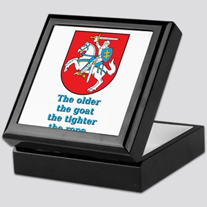 The Older The Goat - Lithuanian Proverb Keepsake B