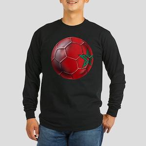 Moroccan Soccer Ball Long Sleeve Dark T-Shirt
