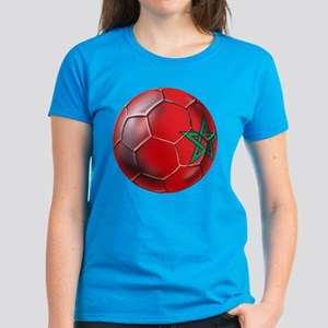 Moroccan Soccer Ball Women's Dark T-Shirt