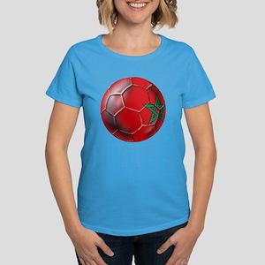 Moroccan Soccer Ball Women's Dark T-Shirt