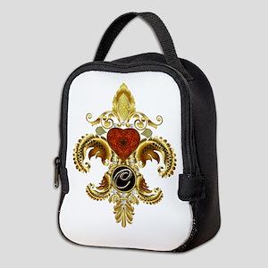 Monogram C Fleur-de-lis Neoprene Lunch Bag