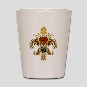 Monogram C Fleur-de-lis Shot Glass