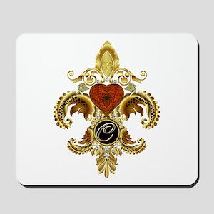 Monogram C Fleur-de-lis Mousepad