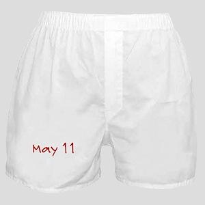 """""""May 11"""" printed on a Boxer Shorts"""
