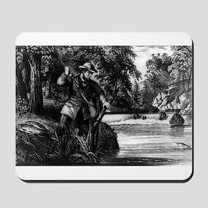 Brook trout fishing - 1872 Mousepad