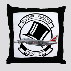 VF-14 Tophatters Throw Pillow