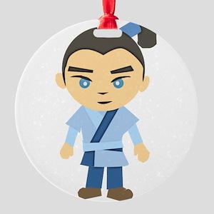 Cartoon Ninja Boy Ornament