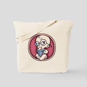 Nerdy Baby Girl Inside Tote Bag