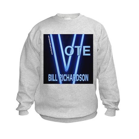 Bill Richardson Neon Vote Kids Sweatshirt