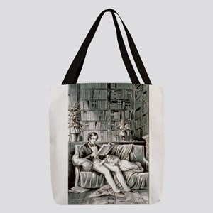 Father and child - 1849 Polyester Tote Bag