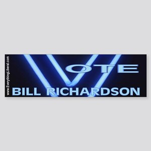 Bill Richardson Neon Vote Bumper Sticker