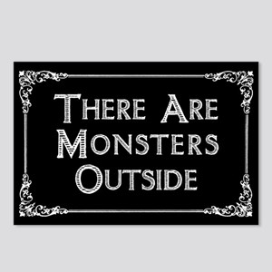 There Are Monsters Outside Postcards (Package of 8