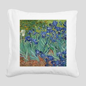 Irises Square Canvas Pillow