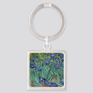 Irises Square Keychain