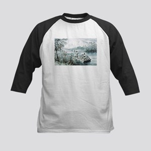 Floating down to market - 1870 Kids Baseball Tee