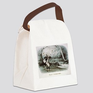 Fly fishing - 1879 Canvas Lunch Bag