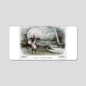 Fly fishing - 1879 Aluminum License Plate