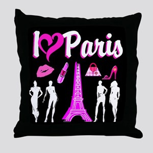 LOVE PARIS Throw Pillow