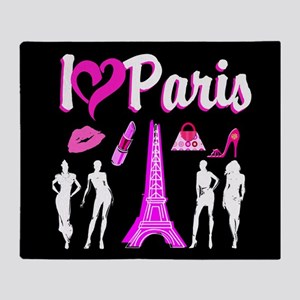 LOVE PARIS Throw Blanket