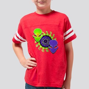 Distorted Background Aliens 1 Youth Football Shirt