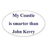 My Coastie is smarter than John Kerry Sticker (Ov