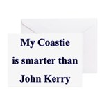 My Coastie is smarter than John Kerry Greeting Ca