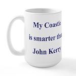 My Coastie is smarter than John Kerry Large Mug