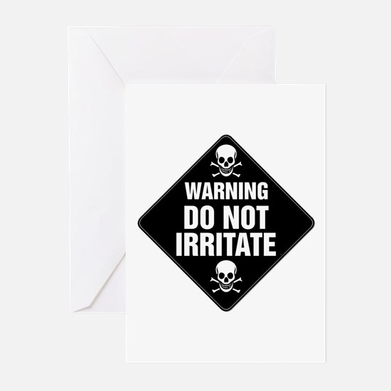 DO NOT IRRITATE Warning Sign Greeting Cards (Packa