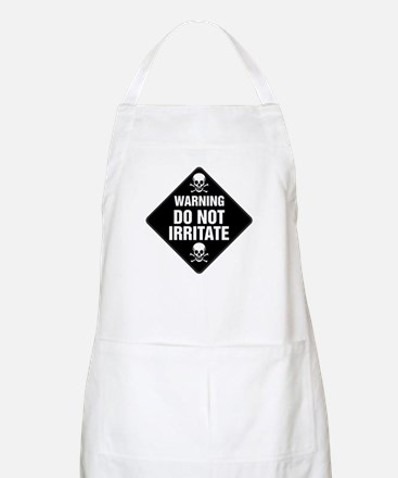 DO NOT IRRITATE Warning Sign BBQ Apron