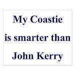 My Coastie is smarter than John Kerry Small Poste