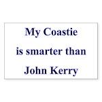 My Coastie is smarter than John Kerry Sticker (Re