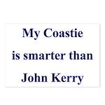 My Coastie is smarter than John Kerry Postcards (