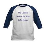 My Coastie is smarter than John Kerry Kids Baseba