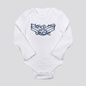 E4 USAF I love my uncle blue Body Suit