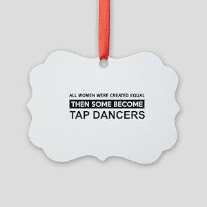tap dance designs Picture Ornament
