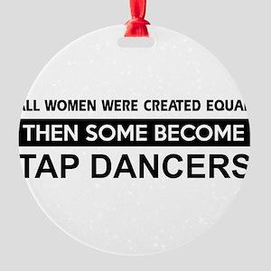 tap dance designs Round Ornament