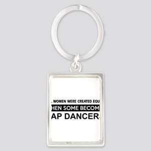 tap dance designs Portrait Keychain