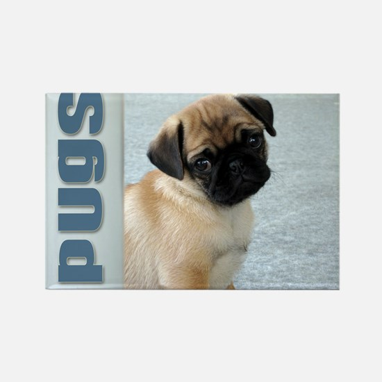Pugs Rectangle Magnet