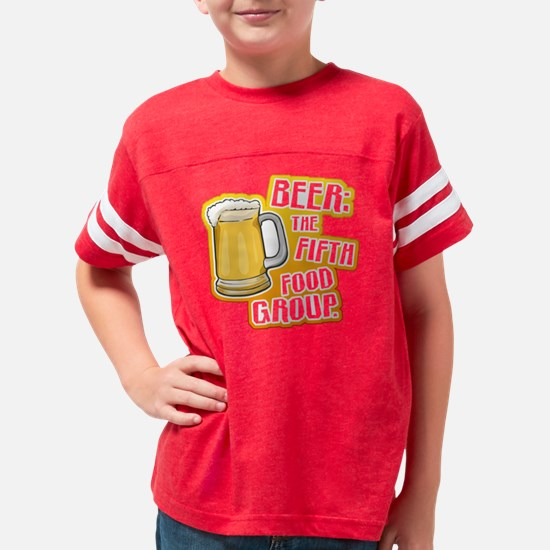 BeerFoodGroupBlkTEE2 Youth Football Shirt